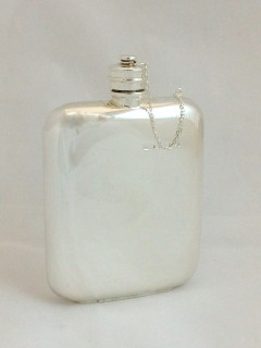 Hipflask (Sterling Silver)